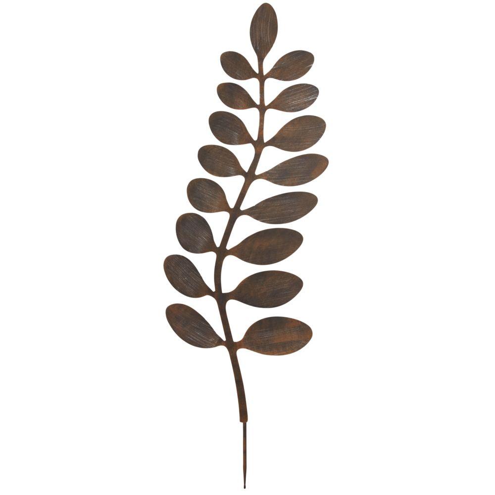 Aubry Gaspard Feuille décorative en métal à planter