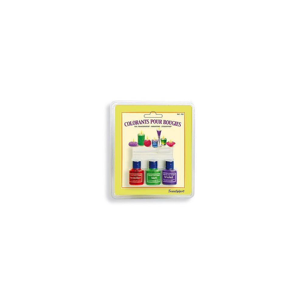 SentoSphere Etui de 3 colorants pour bougies