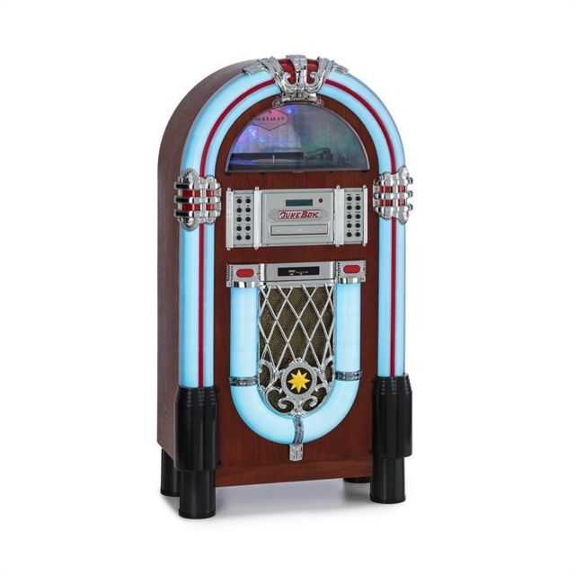 Auna - auna Graceland DAB Jukebox BT CD Vinyle DAB+/FM USB SD AUX-IN lumières LED Auna - Matériel hifi Auna