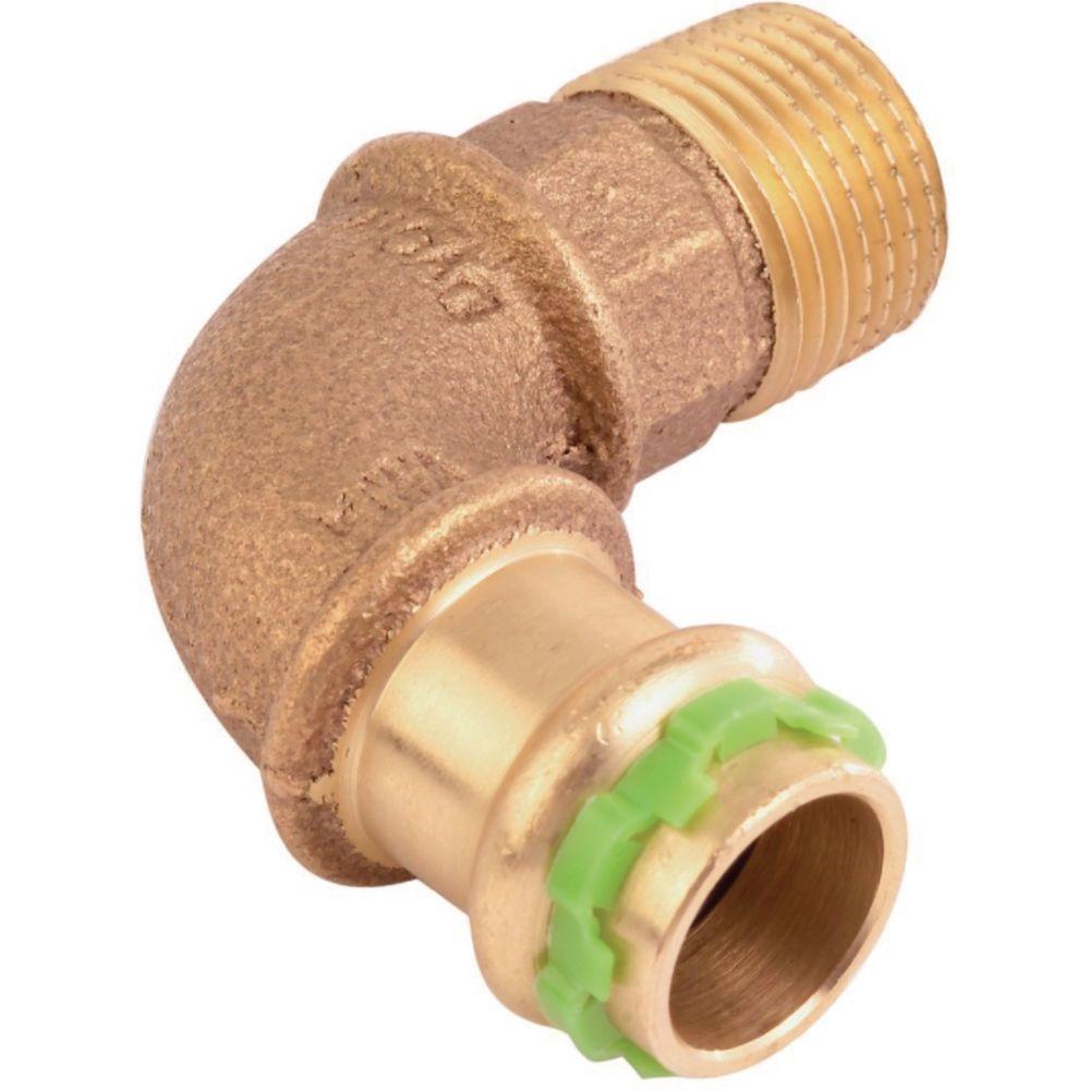 Comap coude à sertir 90 degrés - tube cuivre - femelle 18 mm / mâle à visser 20 x 27 mm - comap sudopress eau