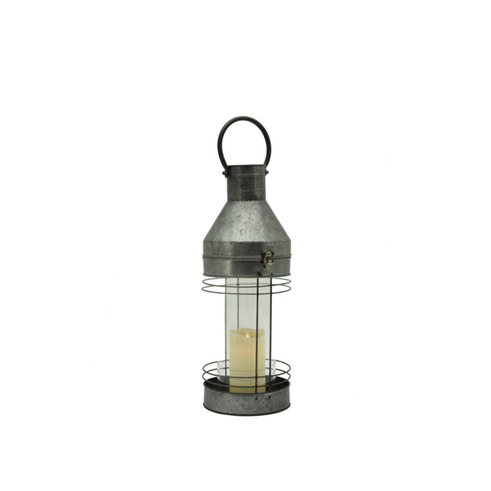 L'Originale Deco Lanterne Tempête Zinc Fer d'Extérieur d'Intérieur 46 cm