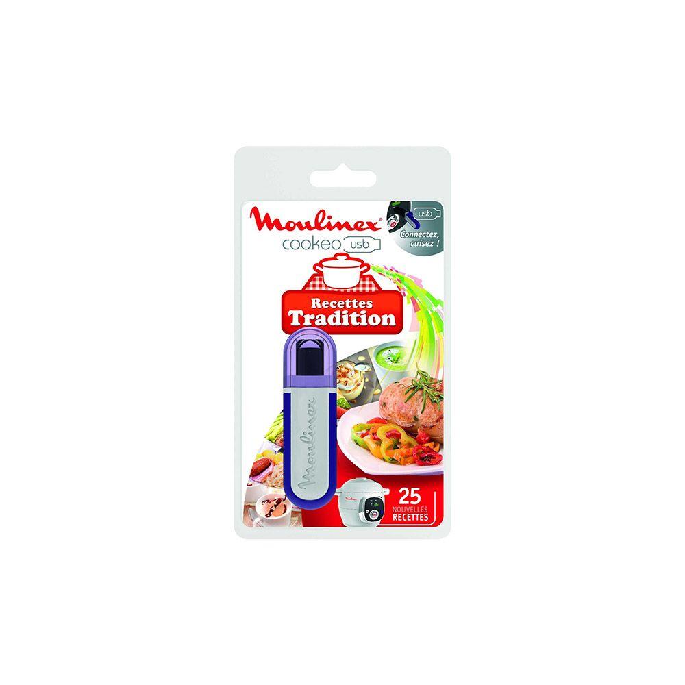 Moulinex moulinex - clé usb 25 recettes traditionnelles pour cookeo ce7021 - xa600200