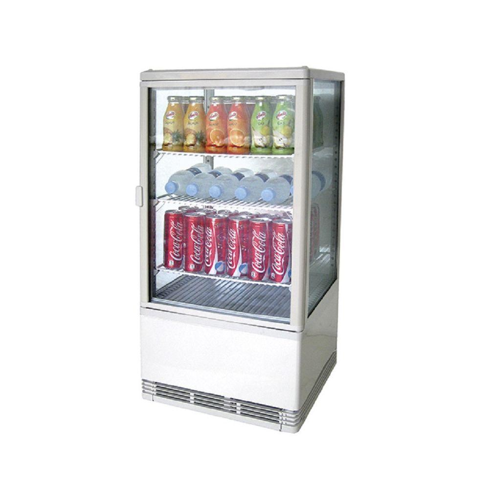Materiel Chr Pro Mini Vitrine Réfrigérée 70 litres - 3 Etagères - 70 L - Virtus -