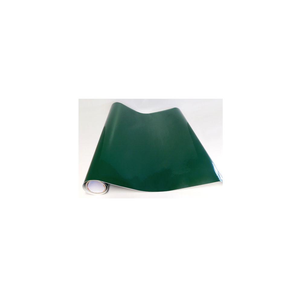 Adzif Biz Rouleau adhésif - Papier peint autocollant - Vert foncé brillant (10 m x 123 cm)