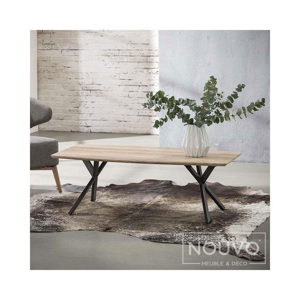 Nouvomeuble Table basse design couleur bois NINE