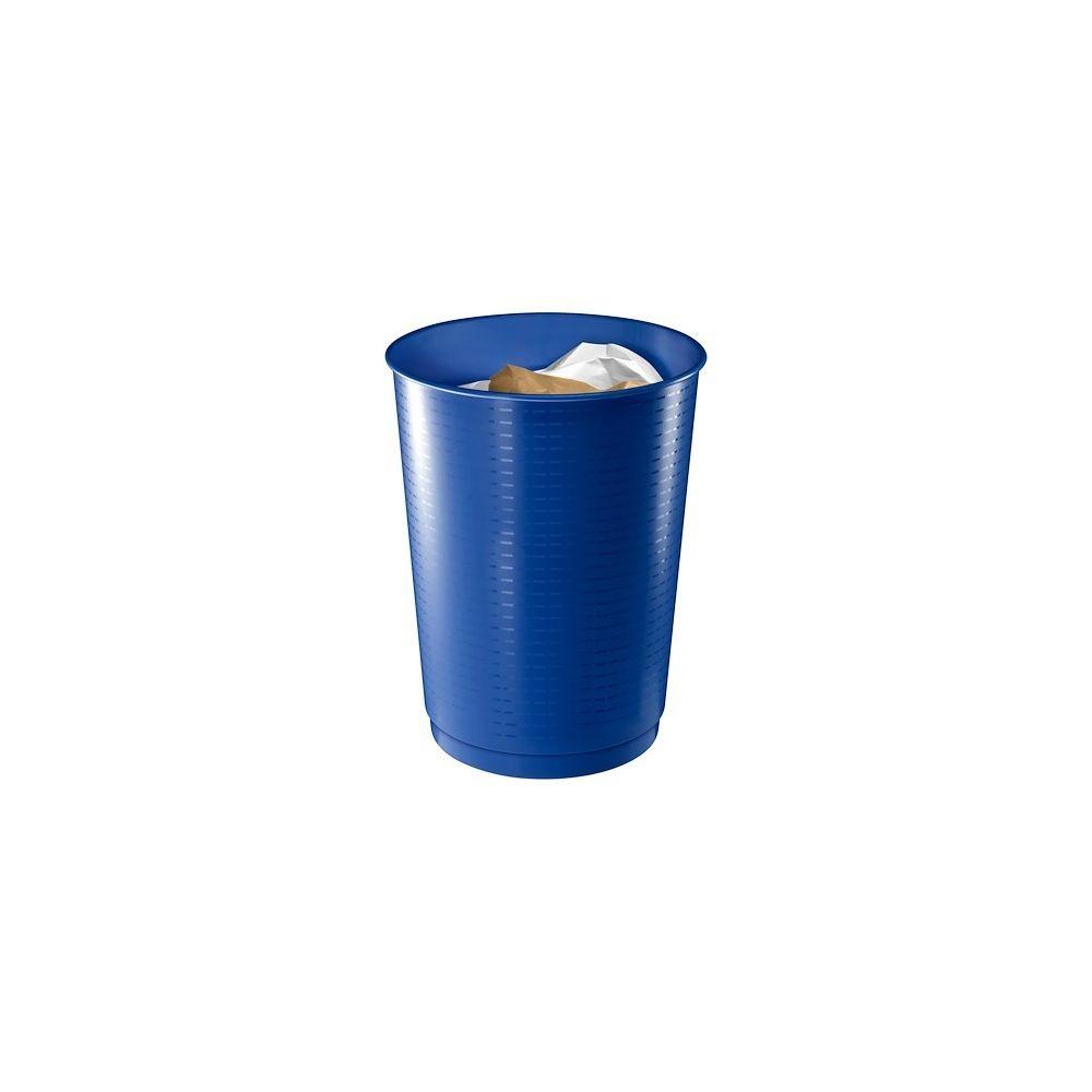 Cep Corbeille à papier plastique Cep géante bleue 40 L