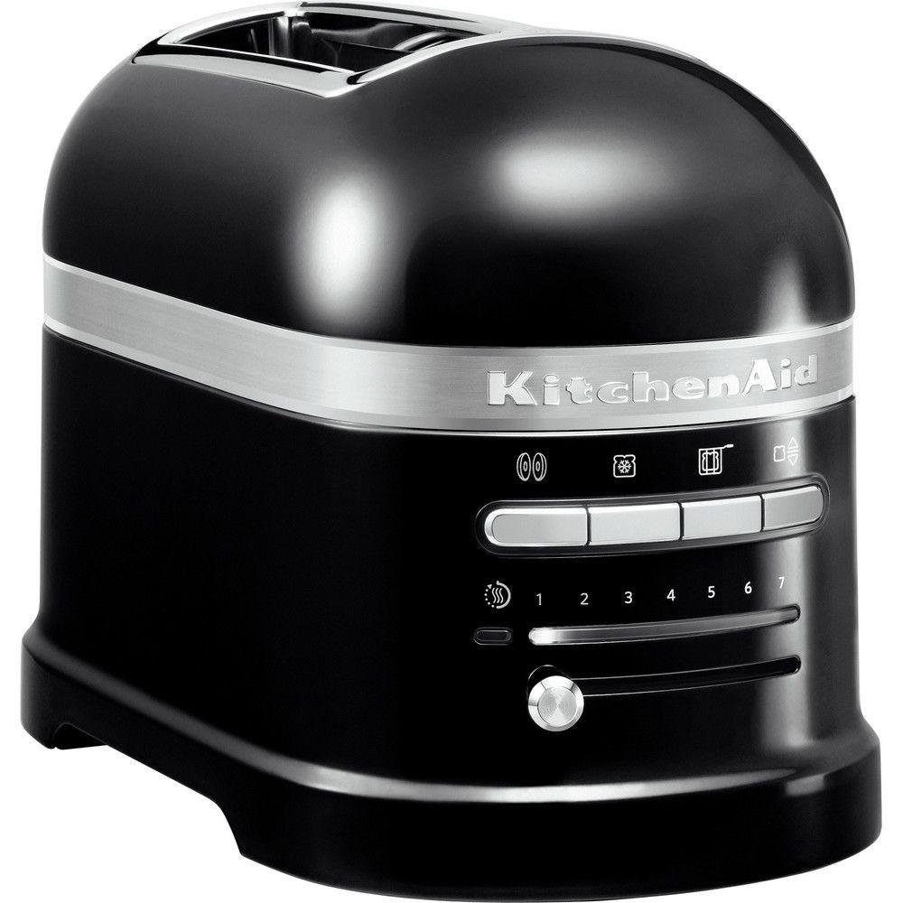 Kitchenaid grille pain avec 2 fentes 1250W noir onyx argent