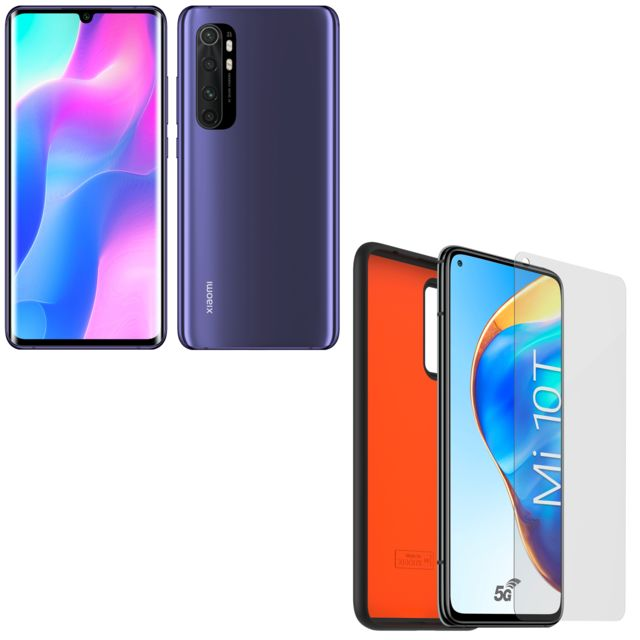 XIAOMI - Mi Note 10 lite - 128 Go - Violet + Pack Protection 360° TPU pour Xiaomi Mi Note 10 Lite - Xiaomi
