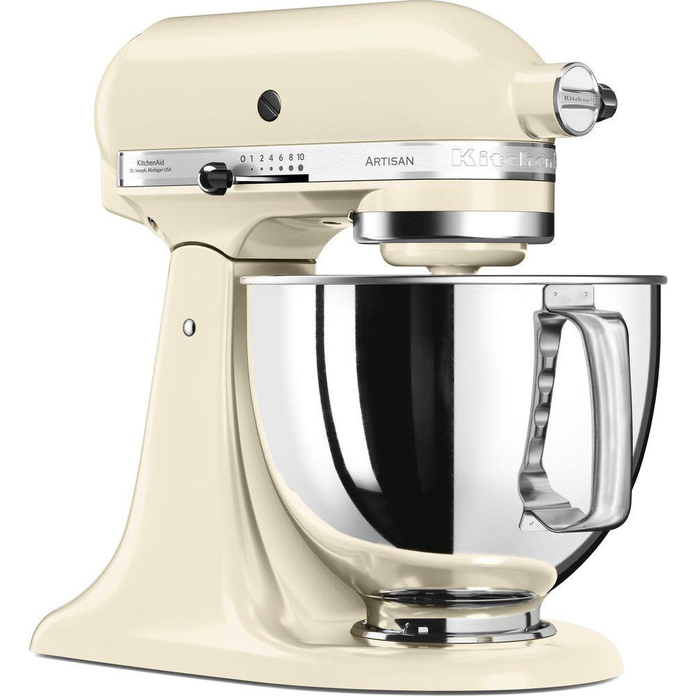 Kitchenaid robot multifonction de 4,8L 300W crème argent