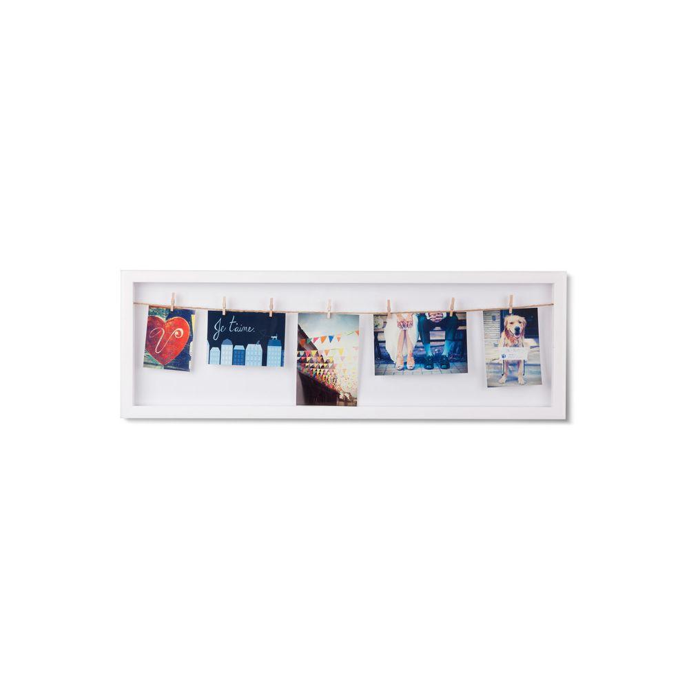 Sologne Pèle mêle photo avec clips blanc CLOTHESLINE FLIP