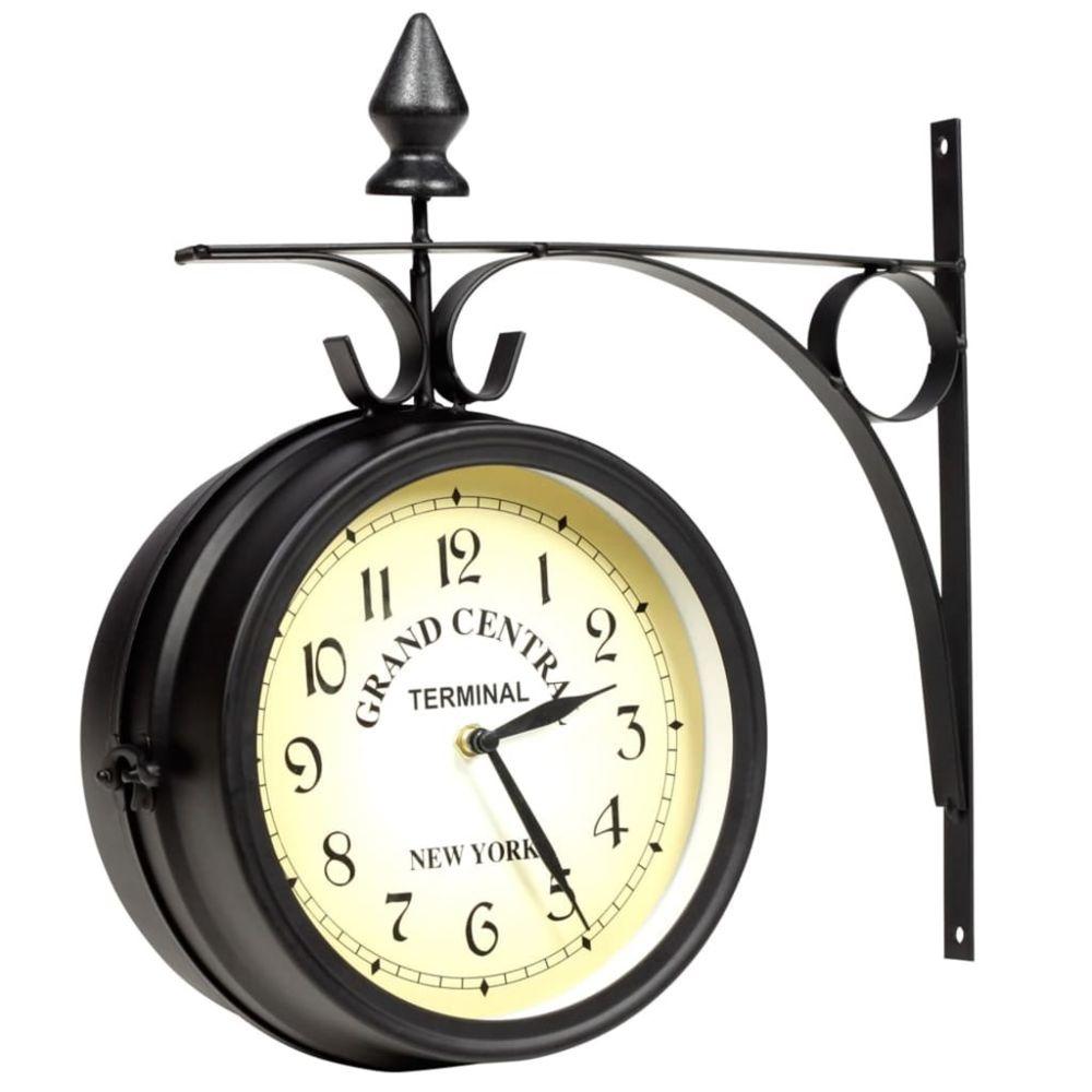 Vidaxl vidaXL Horloge murale double face 20 cm