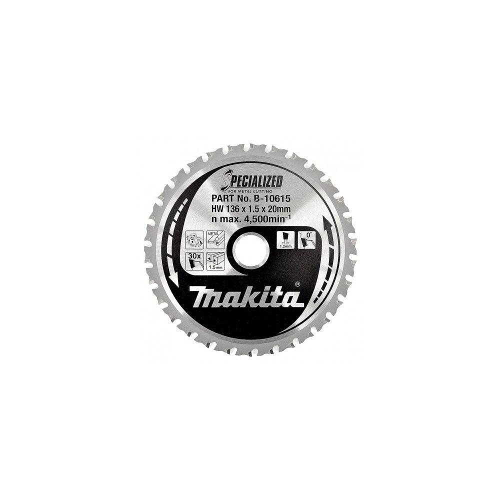 Makita Lame de Scie Circulaire MAKITA B-10615 Carbure Métal Ø136mm