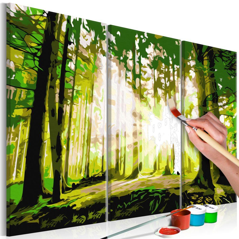 Declina Tableau à peindre par soi-même - Forêt (Printemps)