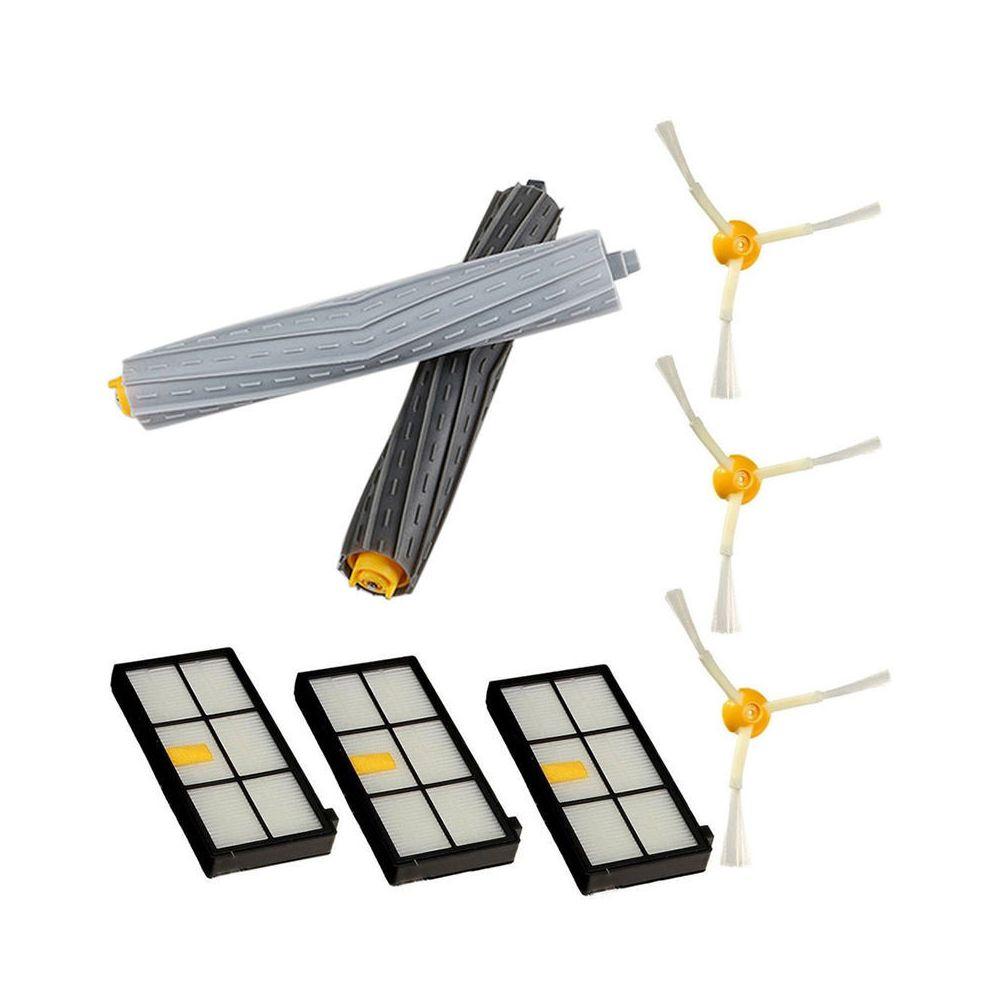 Generic Kit de remplacement d'extracteur de filtre à brosse latérale pour irobot Roomba 800 série 870880 @7edition1