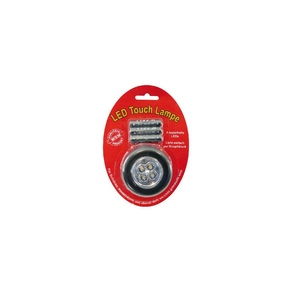 Coolminiprix Lot de 12 - Lampe 4 LED Stick Tap Touch argenté + piles - Qualité COOLMINIPRIX