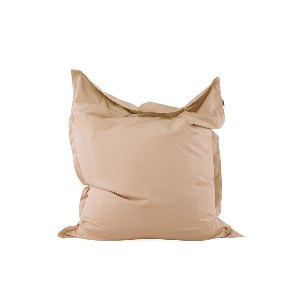 Beliani Beliani Pouf couleur sable en tissu polyester 140 x 180 cm - sable