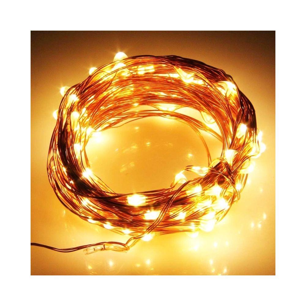 Wewoo Guirlande blanc Lumières de décoration de chaîne de fil de cuivre résistant à l'eau de 10m 600LM LED Light Festival, AC