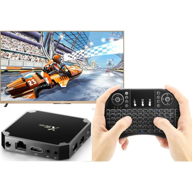 Wewoo - Android TV Box X96 Mini Smart Android TVAndroid 7.1Quad Core Amlogic S905W1 Go + 8 Go2,4 GHz WiFiavec clavier à LED couleur Fly Air I8 Miniprise US - Box TV (Apple TV, Chromecast...)