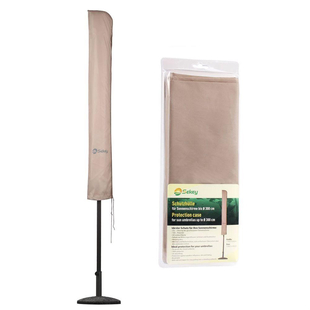 Sekey Housse de Protection pour Ø 300 cm Parasol, 100% Polyester, Taupe