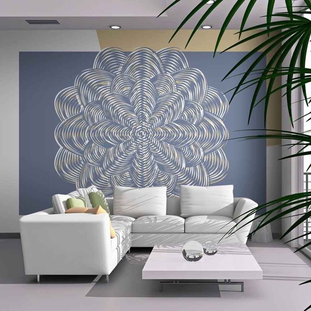 Bimago Papier peint - Ornement blanc - Décoration, image, art   Fonds et Dessins   Motifs floraux  
