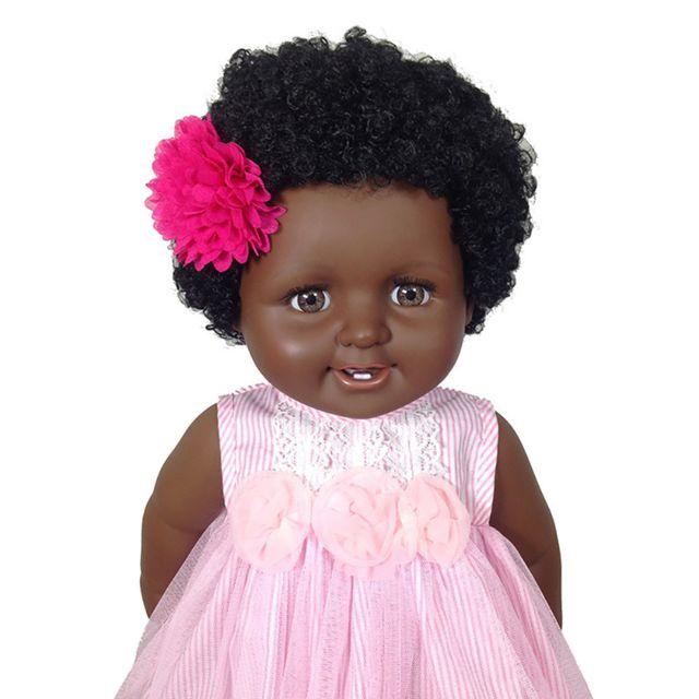 Peau noire Lifelike Réincarné Bébé Poupées Enfant Jouet Nouveau-né fille Napoulen1521 - Achat