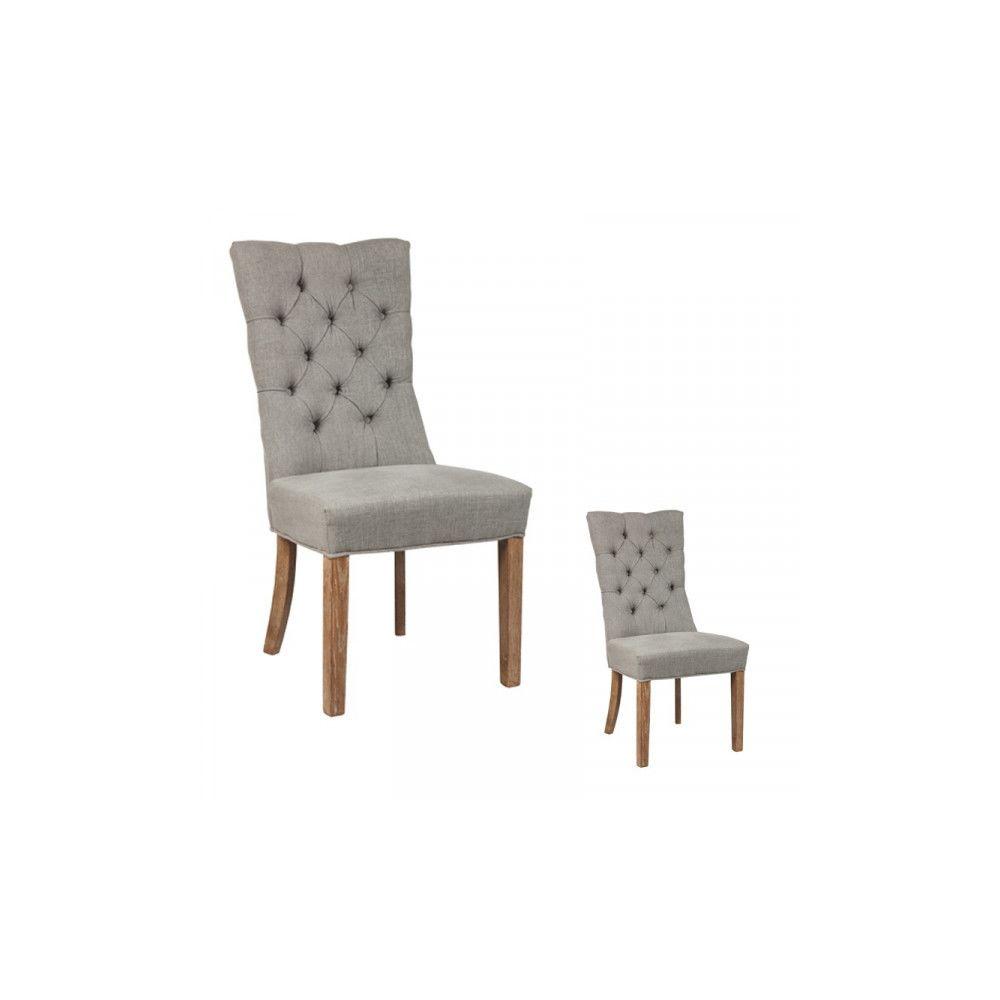 Dansmamaison Duo de chaises capitonnées - LYRDO - L 52 x l 58 x H 102 cm