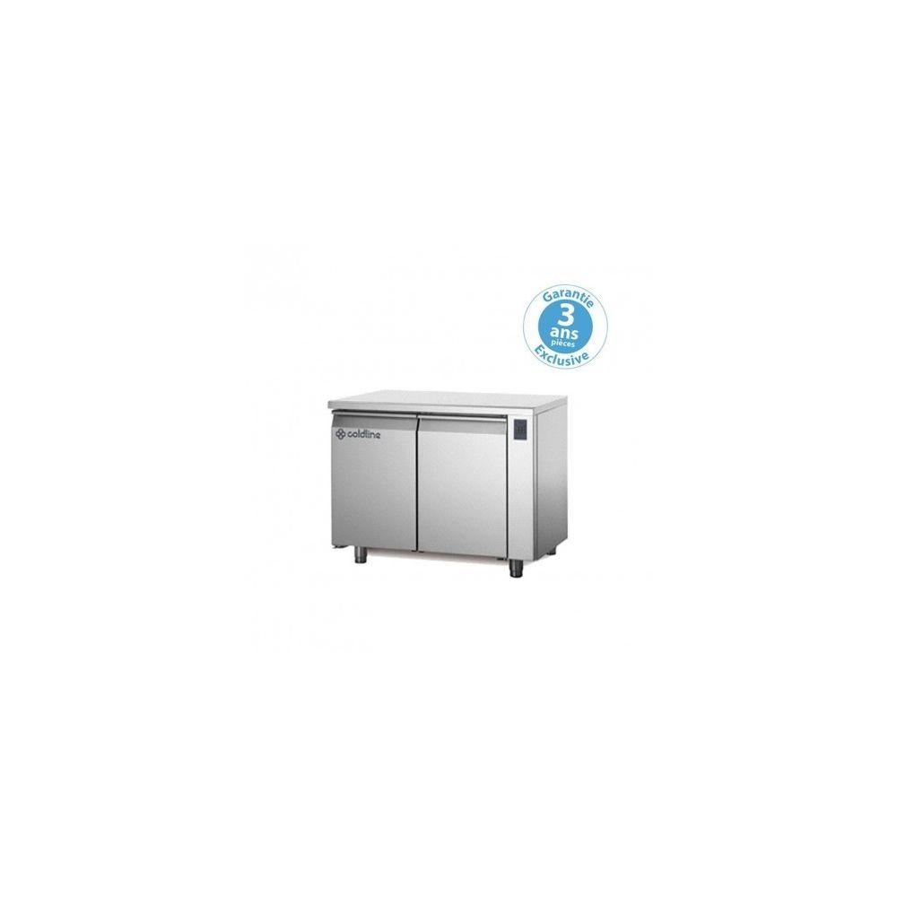 Materiel Chr Pro Table réfrigérée négative - sans groupe - 2 portes - 260 litres - profondeur 800 - 600 x 400 - avec dessus -