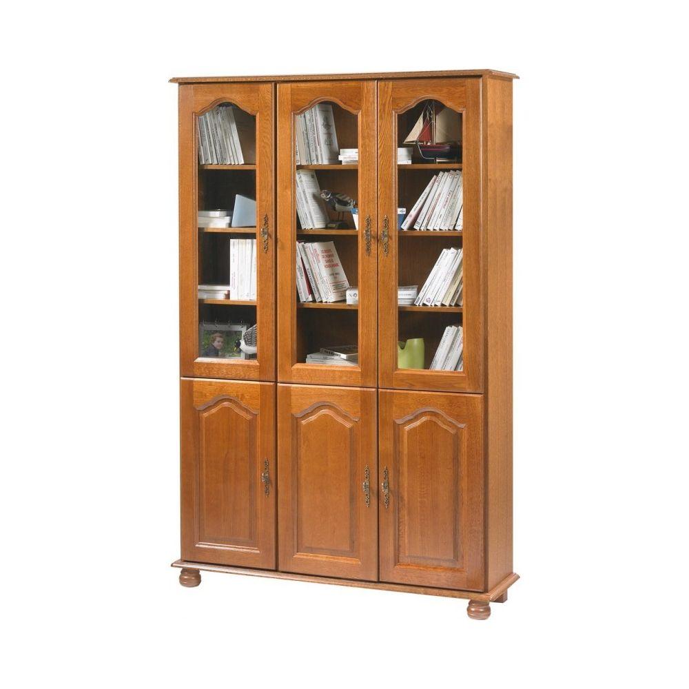 Beaux Meubles Pas Chers Bibliothèque Chêne 6 Portes Largeur 120 cm