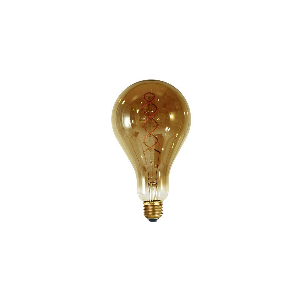 Girard Sudron Ampoule géante filament LED twisted 200mm 4W E27 2000K 160Lm dim Smoky