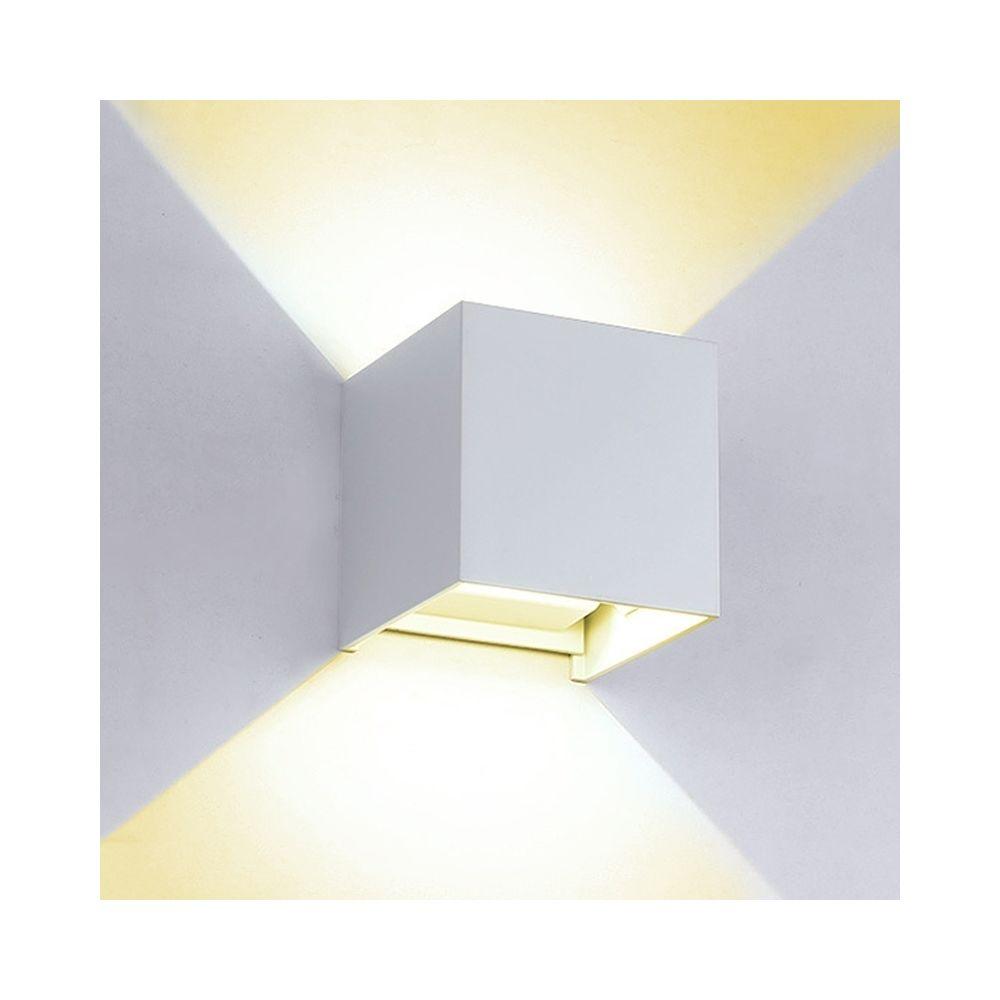 Wewoo Applique murale LED 6W lumière blanche chaude en aluminium de Shell Dimmable de en de mur de COB, décorative extérieure