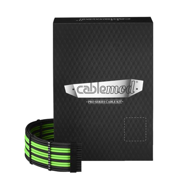 Câble tuning PC Cablemod PRO ModMesh C-Series RMi & RMx Cable Kit - Noir / LIGHT Vert