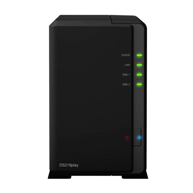 Synology - Synology DiskStation DS218play Ethernet/LAN Compact Noir NAS - Synology