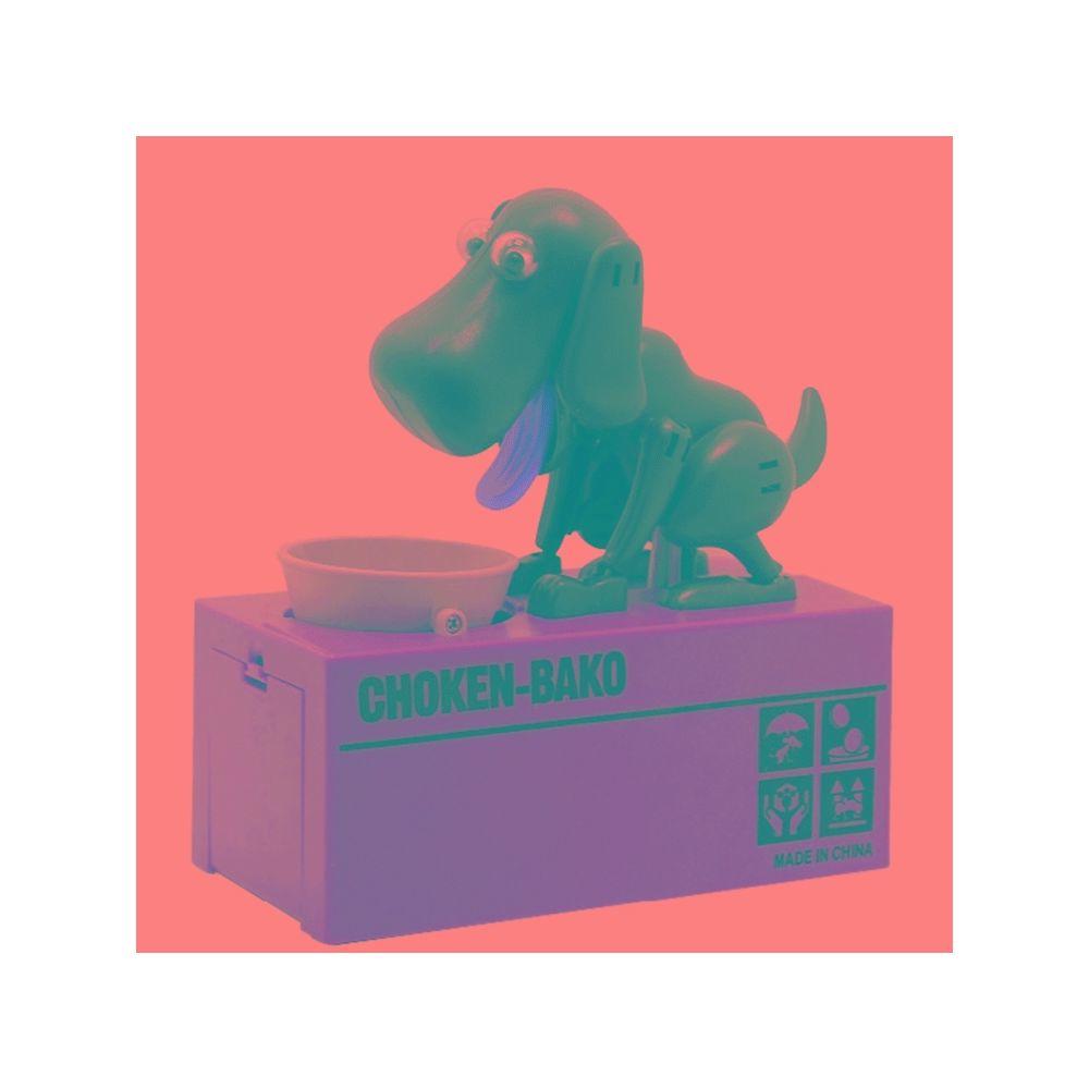 Wewoo Tirelire Creative Cartoon Edacious Puppy Monnaie Automatique, Chien Gris