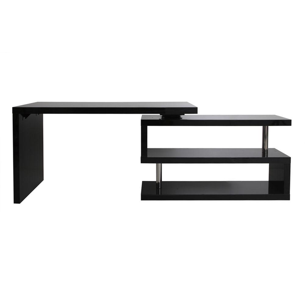 Miliboo Bureau design noir laqué modulable MAX