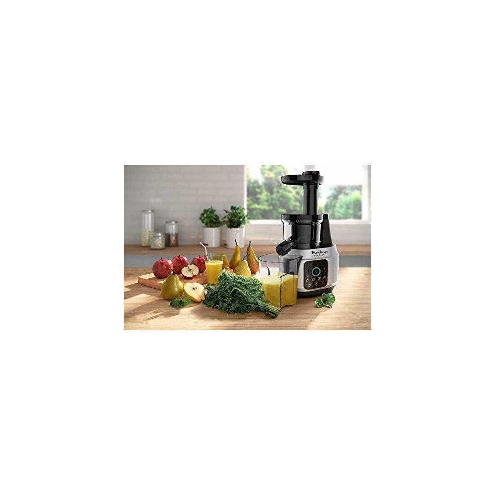 Moulinex extracteur de jus pour Fruits et Légumes 42 à 83 tours/minute 150W gris noir