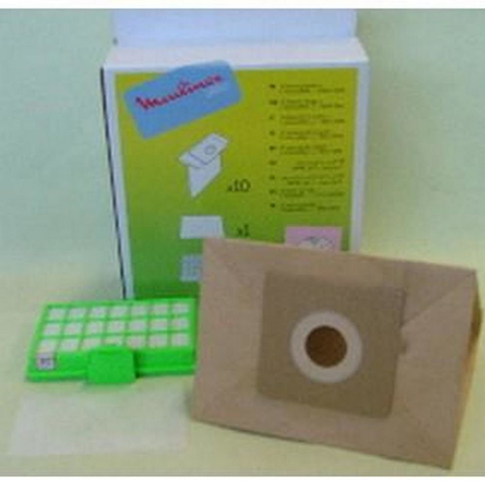 Moulinex Boite de 10 sacs + 1 filtre hepa