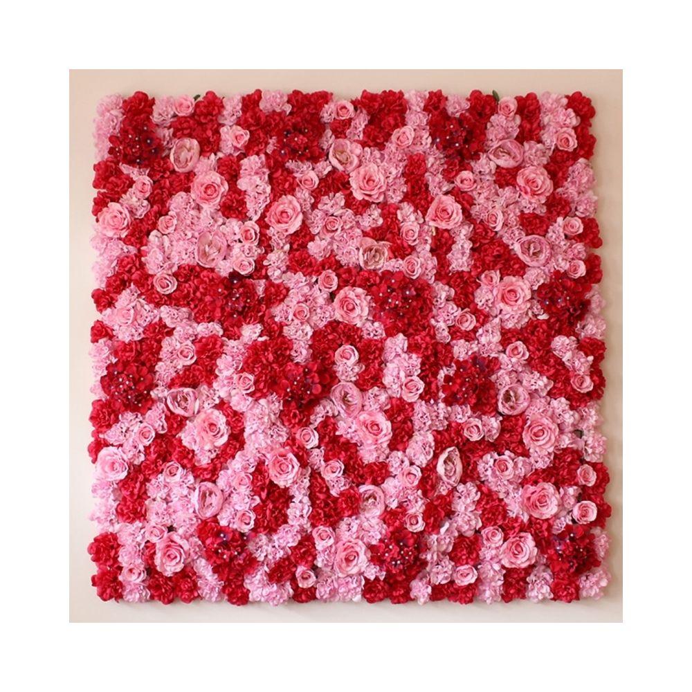 Wewoo Décoration Jardin Rose fleur pivoine hortensia artificielle cryptage bricolage mariage mur photo fond, taille: 50 cm x 5
