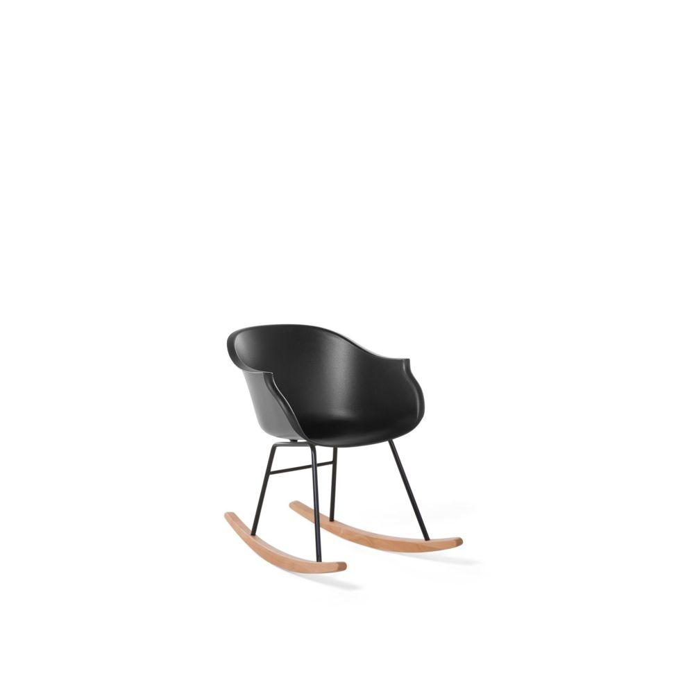 Beliani Beliani Chaise à bascule noire HARMONY - noir
