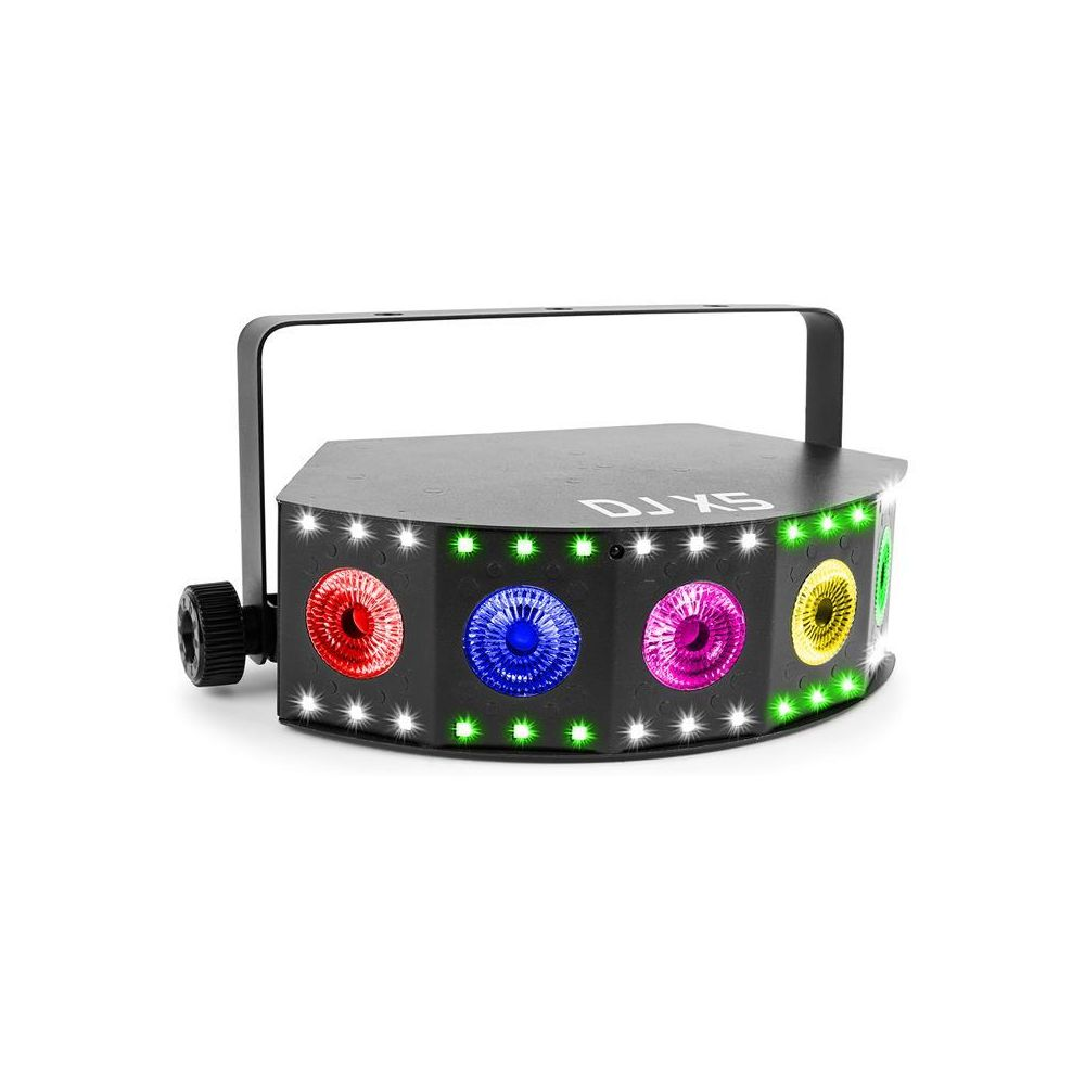 Beamz BeamZ DJ X5 Array Projecteur 5x LED 10W 30x LED SMD RGB DMX / standalone - noir BeamZ
