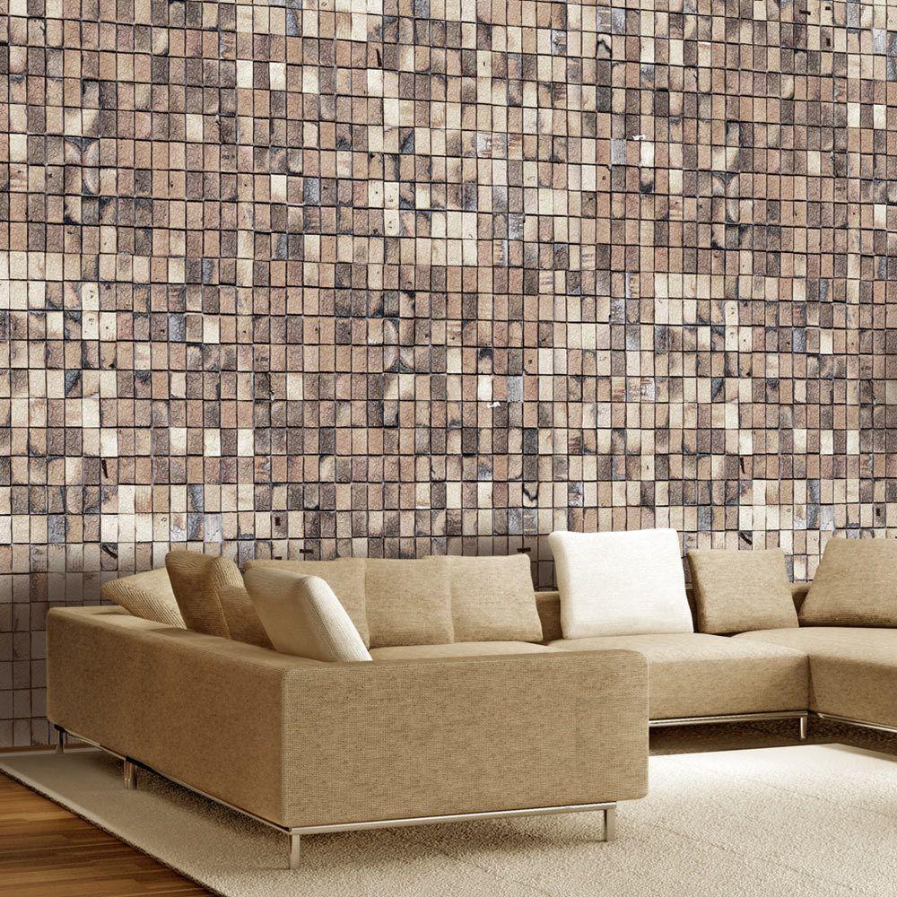 Bimago Papier peint | Mosaique de briques | 200x140 | Fonds et Dessins | Brique |