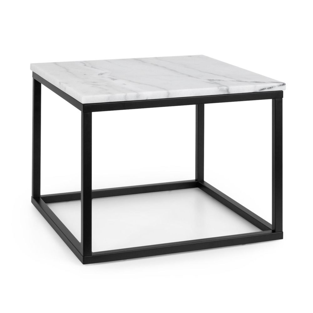 Besoa Besoa Volos T50 Table basse pour intérieur & extérieur - 50 x 40 x 50 cm - Plateau marbre noir & blanc