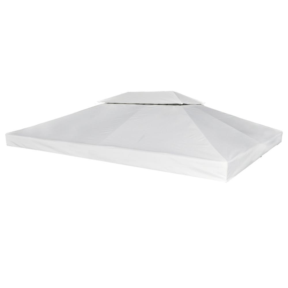 Vidaxl vidaXL Toile de Rechange pour Gazebo Tonelle Pergola Blanc crème 270 g/m²