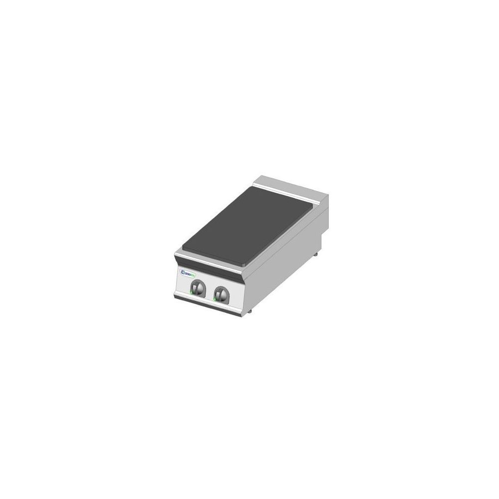 Materiel Chr Pro Plaque électrique de mijotage simple à poser - 2 plaques - gamme 900 - module 400 - Tecnoinox -