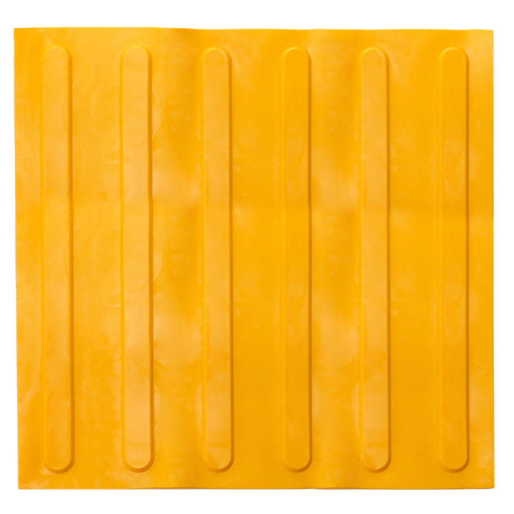 Primematik PrimeMatik - Pavé revêtement de sol tactile pour personnes aveugles 40x40cm avec lignes d'avance jaune 10-pack