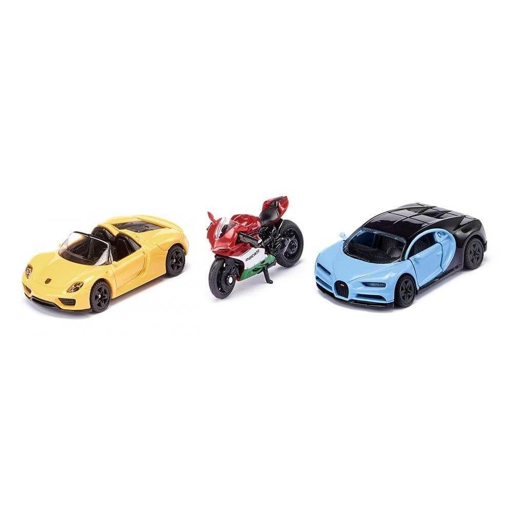 SIKU Modèle réduit : coffret voitures de sport et moto