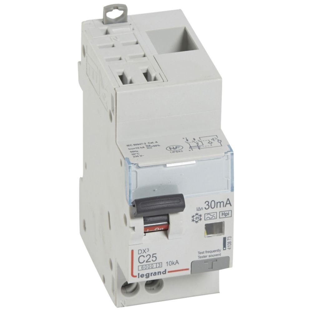 Legrand disjoncteur différentiel legrand dx3 25a courbe c 30ma 2 poles type hpi - auto / vis