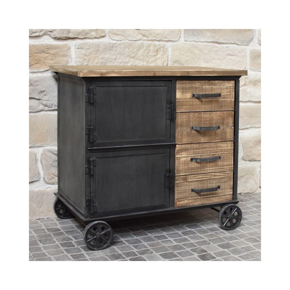 meuble industriel campagne en bois et
