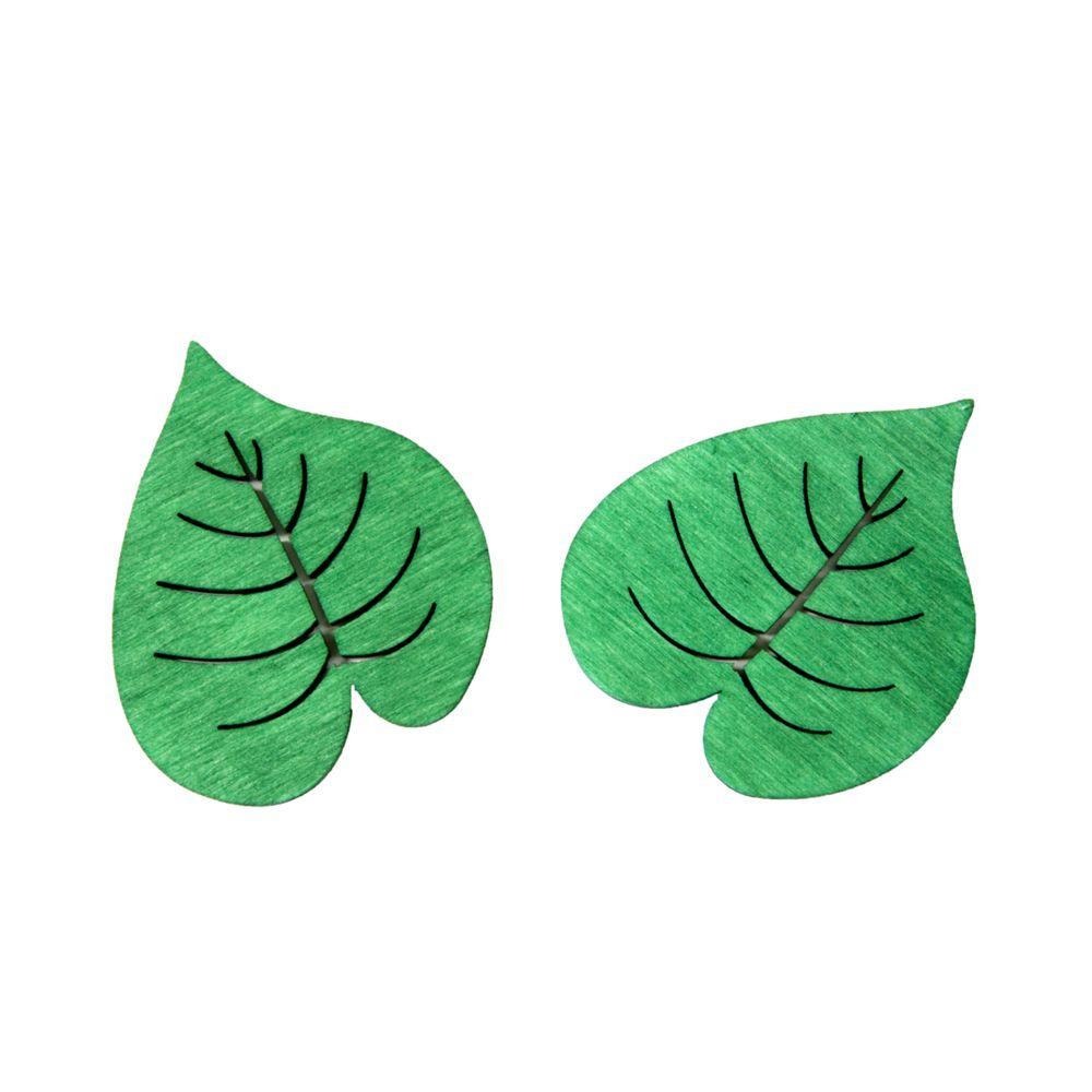 Visiodirect 10 sachets de 10 Confettis de table feuilles en vert - 4 x 3,5 cm