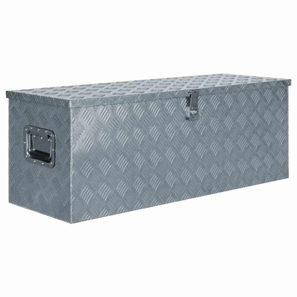Vidaxl vidaXL Boîte en aluminium 110,5 x 38,5 x 40 cm Argenté