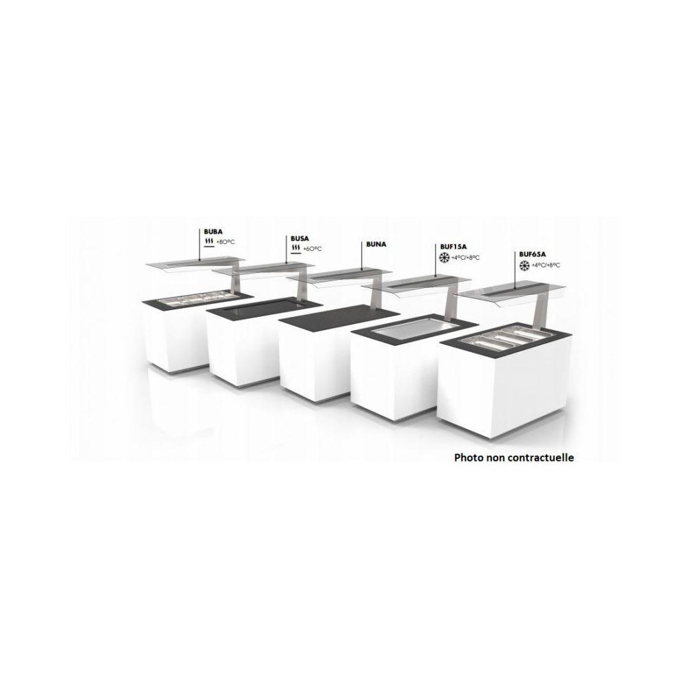 Materiel Chr Pro Buffet Chaud Cuve en Verre Protection Anti-Postillons - 1300x700 mm - SAYL -